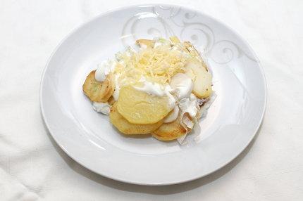 zapékané brambory s pórkem