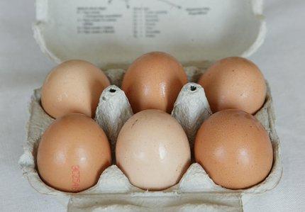 Vejce obsahuje thiamin.