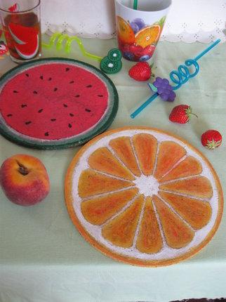Hotové ovocné podložky.