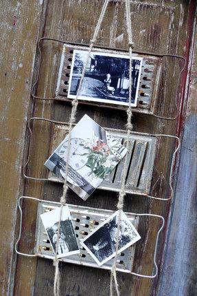 Pověsíme struhadla na zeď a originální rámečky jsou na světě.
