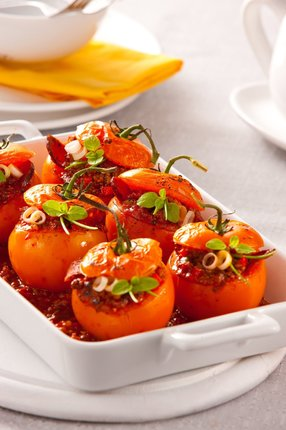 Toskánská nadívaná rajčata.