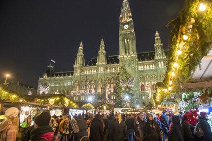 Adventní trhy ve Vídni.