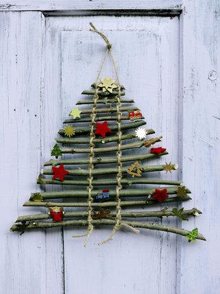 Snadná vánoční dekorace - originální stromeček.