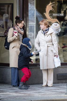 Herečka stihla i kávu s maminkou Carmen Mayerovou.