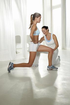 Výpady k procvičení stehen a hýždí.