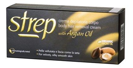 Depilační krém Strep s pečujícím arganovým olejem, Opilca, 144 Kč.