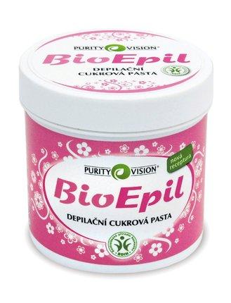 100% přírodní cukrová pasta obohacená o pečující bylinné extrakty BioEpil, Purity Vision, 275 Kč.