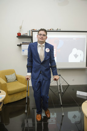Michal se s handicapem potýká už od narození.