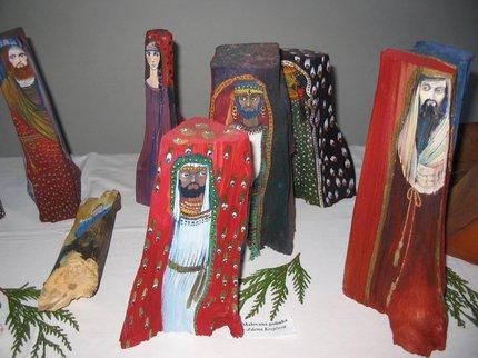 Betlém malovaný na polínkách ze sbírky paní Marie