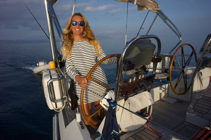 Inna Václavová na lodi
