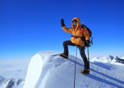 Renata na hoře Mount Vinson