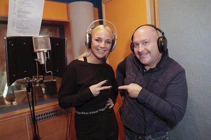 Markéta Konvičková s Michalem Davidem