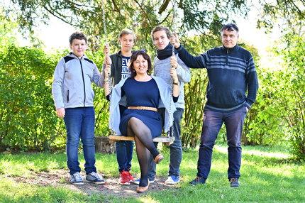 Monika s manželem a syny