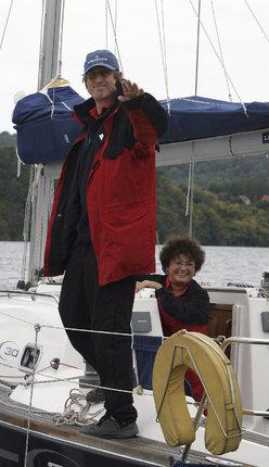 Jana a Václav na lodi