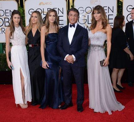 Stallone s rodinou