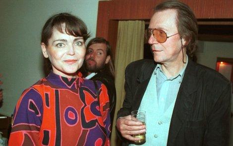 Eva Jakoubková s manželem Petrem Novákem. Osudem jich obou se stal alkohol, jemuž nadměrně holdovali.