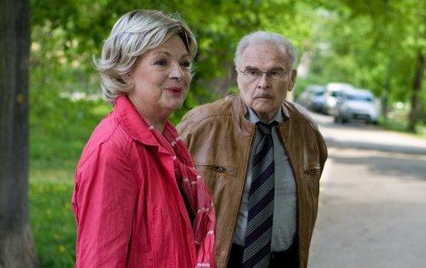 Jana Hlaváčová se svým manželem Luďkem Munzarem.