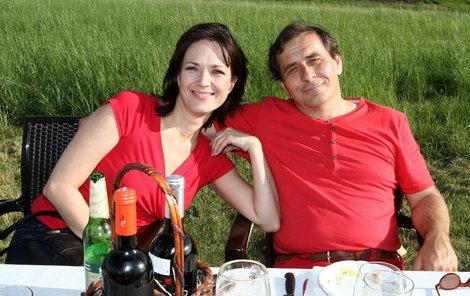 Tereza Kostková s manželem.