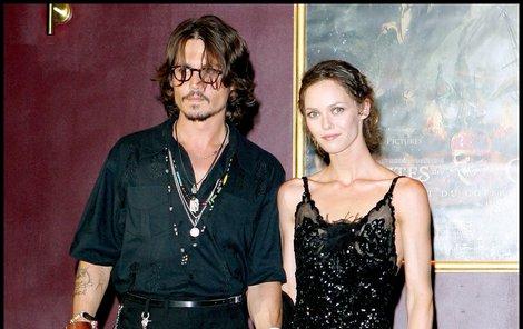 Johnny Depp a Vanessa Paradis.
