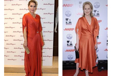 Olga Menzelová a Meryl Streep mají zjevně stejný vkus. Které to sluší víc?