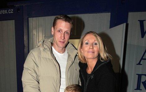 Tereza Pergnerová a partnerem Jiřím Chlebečkem.