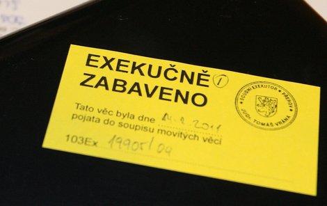 Exekuce loni postihla prakticky každého desátého Čecha. A bude ještě hůř.(Ilustrační foto)