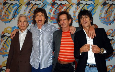 Veteráni Rolling Stones - Zleva Charlie Watts, Mick Jagger, Keith Richards a Ron Wood.