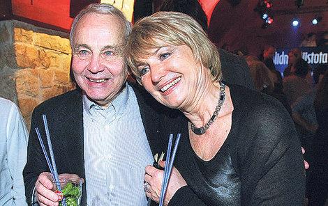 Eliška Balzerová s manželem Janem.