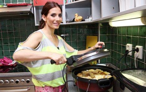 Eva Decastelo není moc zkušenou kuchařkou