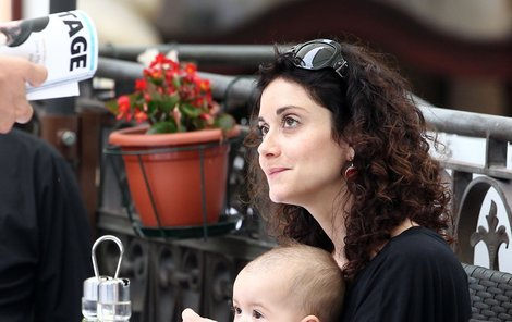 Lucie Šoralová s Rebekou