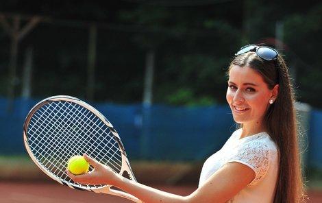 Tereza Chlebovská na tenisovém turnaji v Karlových Varech