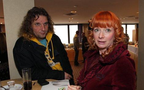 Bára Štěpánová s manželem Mírou Barabášem.