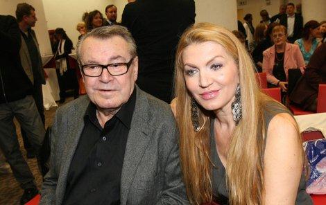 Martina s manželem Milošem Formanem.
