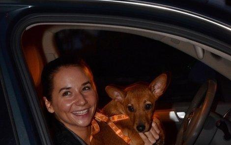 Sandra a její nová láska - fenka Bambi.