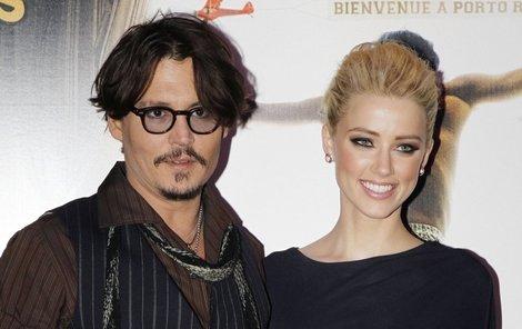 Johnny Depp se svou novou múzou Amber Heard.