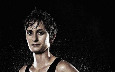 Martina Sáblíková na fotce pro kalendář Pro Sport Invest 2013.