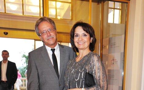 Veronika Freimanová s přítelem Vladimírem Boučkem.