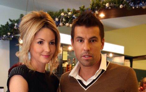 2012: Sladký život II. Milan Baroš a jeho žena Tereza na v divadle.
