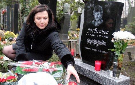 Šárka Rezková ,  Brabcová  ,  pohřeb Jiří Brabec