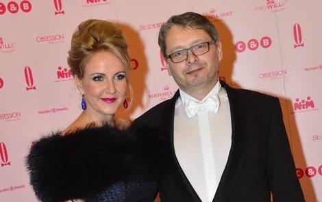 Vendula na plese s partnerem Vladimírem Waasem.