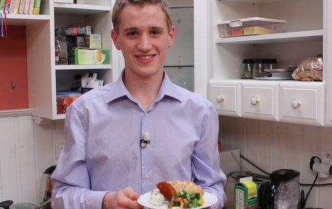 Mladý student David Dubec