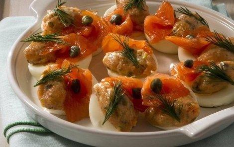 Velikonoční vejce s lososovou pomazánkou