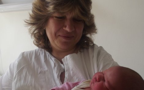 Michaela Boučková s dcerkou.