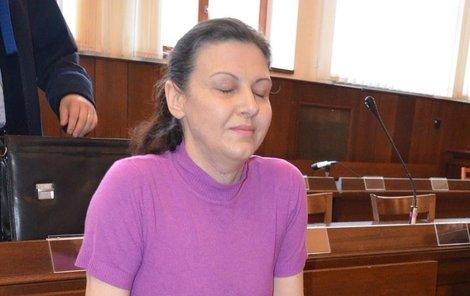 Marie Sonbolova vnímala soudní líčení uzavřená ve svém světě.