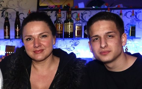 Šárka se synem Filipem, který si říká BeatSolčy.