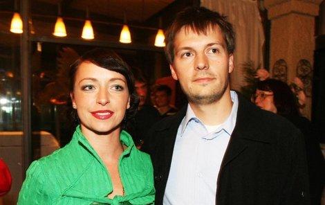 Táňa Vilhelmová s emanželem Pavlech Čechákem.