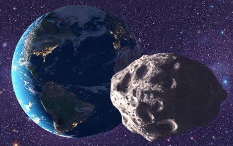 Na Zemi se řítí obří asteroid, proletí ale v bezpečné vzdálenosti