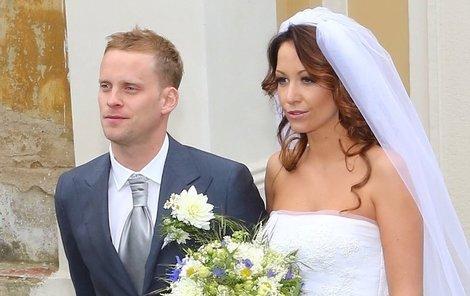 Novomanželé Agáta a Jakub Prachařovi