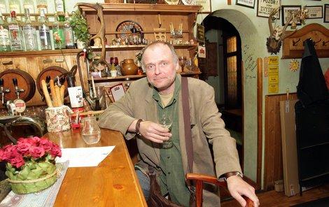 Igor Bareš v oblíbeném šenku