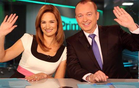 Klára je nyní vedle Karla Voříška hlavní hvězdou televizních zpráv.